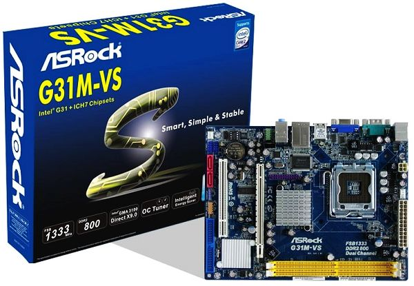 ASROCK G31M-VS WINDOWS 8 DRIVER
