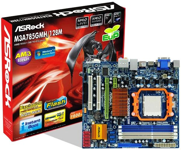 Asrock M3A785GMH/128M AMD All in 1 Drivers for Windows Download