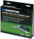 Manhattan 160391 Hi-Speed USB PCI Express Card